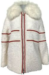 New Moncler Gamme Rouge White Runway Down Filled Coat/parka 2 7500
