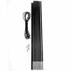 Replacement Fibreglass Pole Kit Shock Corded Camping Tent Equipment 4.5m X 8.5mm