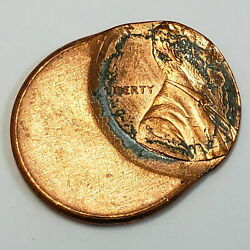 Us Lincoln Memorial Penny 1 Cent .01c Off Center Struck Mint Error Coin
