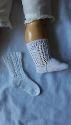 Antique Pattern White Socks For Antique Or Repro French Or German Doll