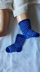 Antique Pattern Stripe Socks For Antique Or Repro French Or German Doll