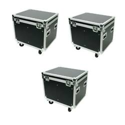 3 Utility Case 30 Ata Flight Road Case W/casdter Wheels And Hard Rubber Lined Osp