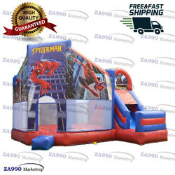 16x16ft Commercial Inflatable Spiderman Bounce House And Slide With Air Blower