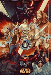 Martin Ansin The Ways Of The Force Timed Edition Screenprinted Poster Sdcc 2020