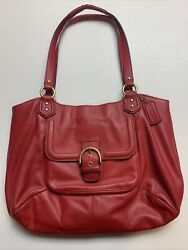 Coach Leather Purse Red $39.99