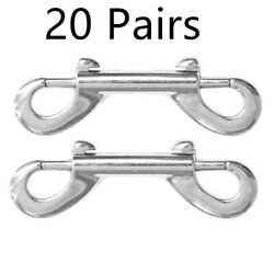 40x Double End Snap Hooks Bolts Clips Carabiner For Keychain Quick Release