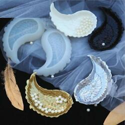 Angel Wing Dish Silicone Molds Diy Epoxy Resin Tray Feathers Shape Plate Making