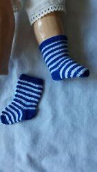 Antique Pattern Stripe Socks For Antique French Or German Doll
