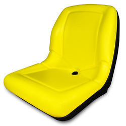 Yellow High Back Seat For John Deere 650 750 850 950 1050 Compact Tractor