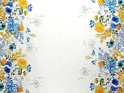 Double Border Floral Cotton Voile Fabric Sketch By the Yard BFab