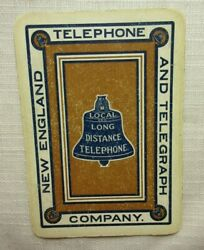 New England Telephone And Telegraph 1 One Playing Card From Deck Advertising