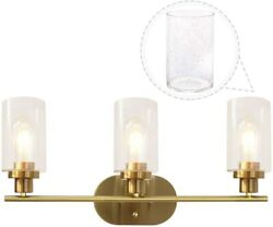 3 Lights Sconces Wall Light Fixture With Seedy Glass Shades
