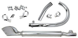 Complete Chrome Exhaust System For 1937 1938 1939 1940 Harley Ul And Ulh