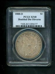 1888-o Us Morgan Silver Dollar 1.00 1 Pcgs Xf40 Doubled Die Obverse Hot Lips