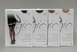 Gio Stockings Fully Fashioned Cuban Heel - Lot Of 37
