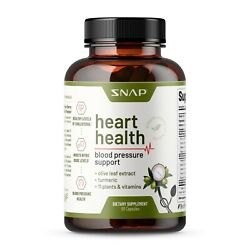 Heart Health Blood Pressure Support Supplement Nitric Oxide Olive Leaf Extract