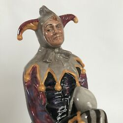 Vintage Royal Doulton The Jester Brown Costume Hn 2016 Figurine 10 Tall