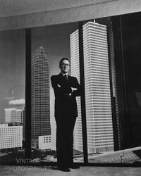 1985 Vintage Matted Helmut Newton Gerald D. Hines Texas Real Estate Photo 14x11
