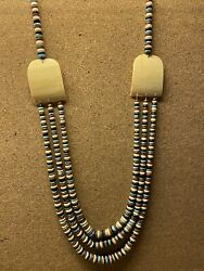 """Rare One-of-a-kind Sw American Indian 3- Strand """"colors Of Corn"""" Necklace"""
