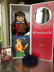 American Girl Doll Molly 18 Excellent Condition-meet Accessories And Original Box