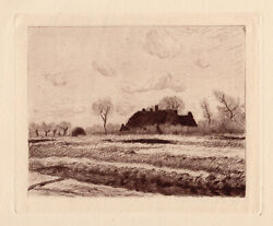 Limited Edition 1892 Claude Monet Etching Enchanting Flower Fields Framed Coa