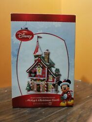 Disney Dept 56 Mickeyand039s Mouse Merry Christmas Castle Store House Shop Village