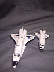 8 Inch Nasa Space Shuttle Atlantis Pull Back Die Cast Metal Toy And Plastic