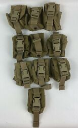 Lot Of 10 Ea. Eagle Industries Molle Ii Coyote Grenade Pouch Mc-fgc-1-ms-coy