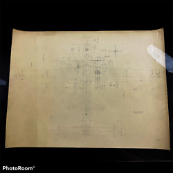 Rare Wwii Early Design Boeing B-29 Superfortress Bomber Blueprint Named Relic