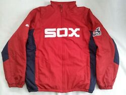 Rare Majestic Chicago White Sox Full Zipp Red Jacket In Size Xl