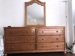 Bellini Bedroom Set Large Dresser With Mirror, Chest And Nightstand