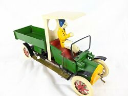Tucher And Walther Limited Edition T140 Tin Toy Truck, Lever Clockwork Drive Works