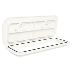 Marine Boat Deck Access Hatch And Lid With Lock 24 X 9.5-white 607mm X 243mm