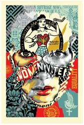 Sandra Chevrier X Shepard Fairey Women's Rights Liberty Equality Print Obey