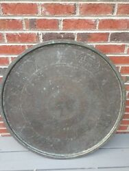 Antique Middle East Persian Islamic European Large Copper Tray 33 Handmade