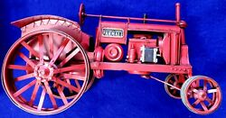 Vintage Red Mccormick Deering Farmall Tractor Tin Toy 13x7x7in