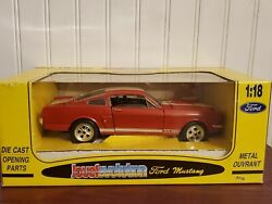 Jouef Evolution 1965 Ford Mustang 350 Gt 65 118 Scale Diecast Car Red