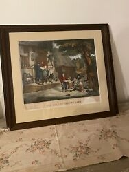 Currier And Ives William Collins Sale Of The Pet Lamb. Framed