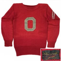 """Wow Rare Vintage O'shea Knitting Mills Ohio State """"o"""" Red Wool Athletic Sweater"""