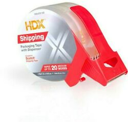 Hdx 1.88 Inch X 54.6yd Shipping Packaging Tape With Dispenser Tape Bay 8 Rolls
