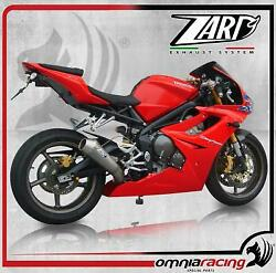 Zard Conical Steel Lateral Approved Full Exhaust Triumph Daytona 675 /r 09 11