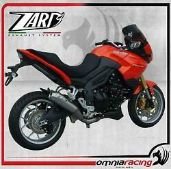 Zard Conical Low Slip On Steel Racing Exhaust For Triumph Tiger 1050 2007 14