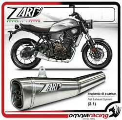 Zard Full Exhaust System 2.1 Racing Stainless Steel Low Mount For Yamaha Xsr 700