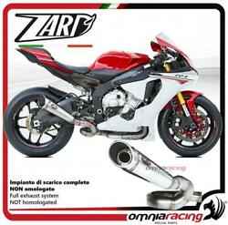 Zard Exhaust Steel Non Street Legal And Link Pipe No Catalyst Yamaha Yzf R1 15