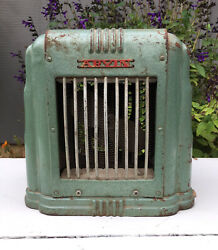 Arvin Space Heater 102 Art Deco Green Working Condition Vintage