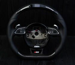 Audi S4 S5 Rs4 B8 A4 Q5 Sq5 S Line Led Display Carbon Fiber Steering Wheel