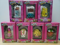 7x Shopkins Christmas Ornaments New In Original Box From 2013