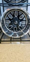 20x12 Fuel Forged Ff19 Black Polished Wheels Ford F250 F350 8x170 In Stock