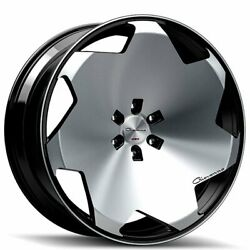22 Staggered Giovanna Wheels Masiss Black Machined Rims Fit 5x114 B2