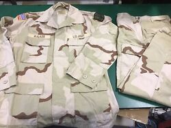 Us Army Uniform Shirt And Trousers Desert Camouflage Excellent Condition